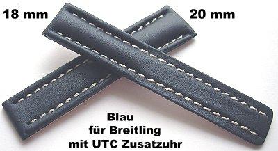 BOB ECHT HAIFISCH XL LEDERUHRBAND für BREITDORNSCHLIESSE KOBALT BLAU 24-24 mm